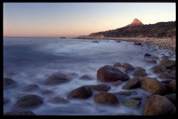 Serene Sunset on Lionshead Capetown South Africa. Rocky b... by Andrew Woodburn